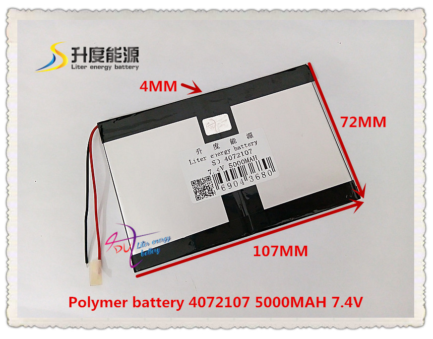 Polymer Lithium Ion Battery For Tablet Pc Tablet Computer General Battery Moderate Price Creative 7.4v 5000mah 4072107