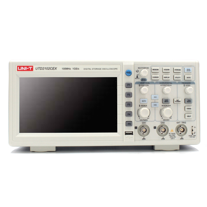 UNI-T UTD2102CEX Digital Oscilloscope 100MHz Bandwidth with USB OTG Interface 2 Channels Storage Portable Oscilloscope uni t utd2102cex digital oscilloscope 100mhz bandwidth with usb otg interface 2 channels storage portable oscilloscope