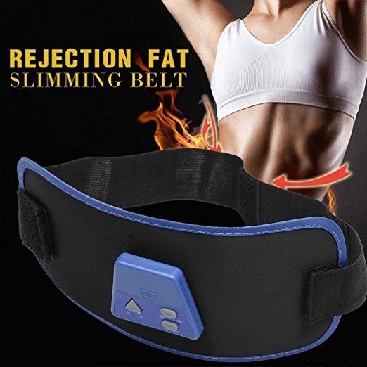 1 X Full Body Electronic AB Gymnic ABGymnic Muscle Exercise Toner Toning Belts Device Gift ab gymnic electronic body muscle arm leg waist abdominal massage exercise toning belt slim fit yf2017