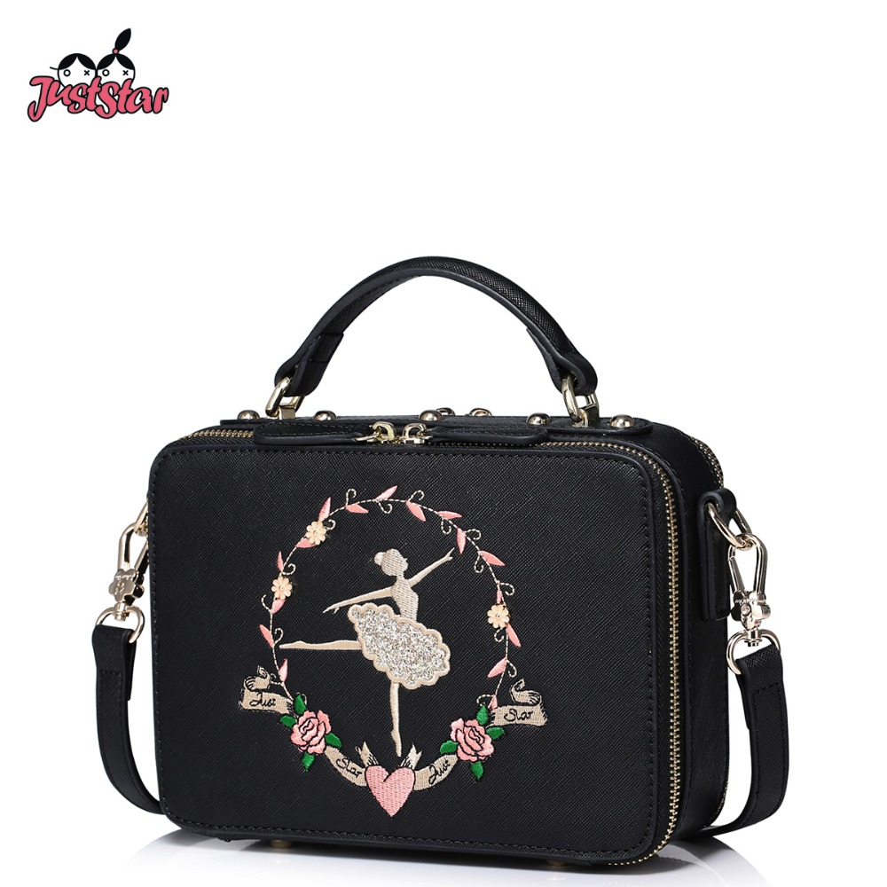 0abaf07abb9e JUST STAR Brand Women's PU Leather Handbags Ladies Fashion Ballerina ...