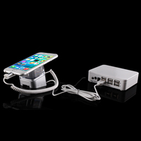 10 USB ports security system for Mobile shop decoration anti theft alarm cell phone display stand