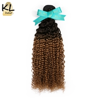 KL Hair Brazilian Kinky Curly Ombre Hair Bundles T1B 30 Color Hair 100 Human Hair Weaving