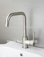 N-92325 современный стиль кран горячей и холодной устройства никель Матовый поворотный кухни и ванной бассейна раковина смеситель кран