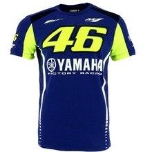 Envío libre 2017 de MotoGP Valentino Rossi VR46 M1 para Yamaha Factory Racing Team Camiseta de La Motocicleta Moto Racing T-shirt