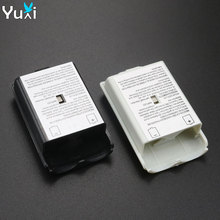YuXi Black/White Battery Case For Xbox 360 Battery Case Wireless Controller Rechargeable Battery Cover For Xbox360 With Sticker цена в Москве и Питере
