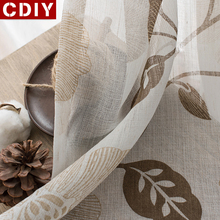 CDIY Floral Tulle Curtains For Living Room Bedroom Voile Curtains Luxury European Sheer Curtains Window Screening Drapes Door cdiy tulle curtains for living room bedroom kitchen modern sheer curtains for window screening linen voile curtains drapes door