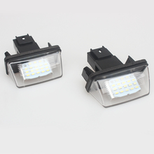 2Pcs 12V 18 LED License Number Plate Light Bulbs Lamp For Peugeut 206 207 306 307 406 407 CITROEN C3 C4 5 XSARA
