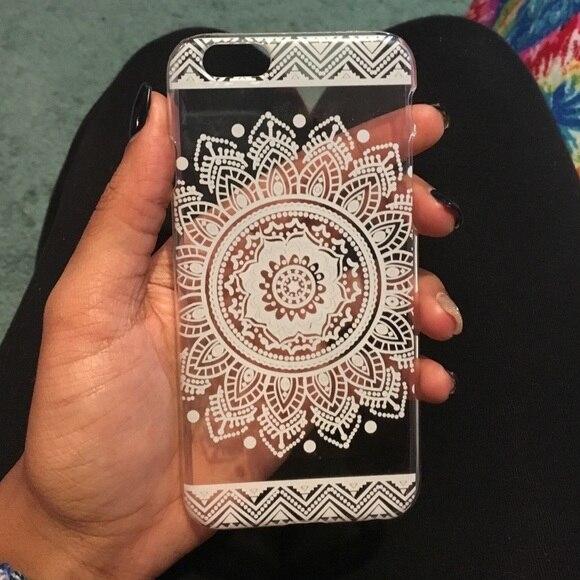White Henna Design Iphone Case Iphone White Case