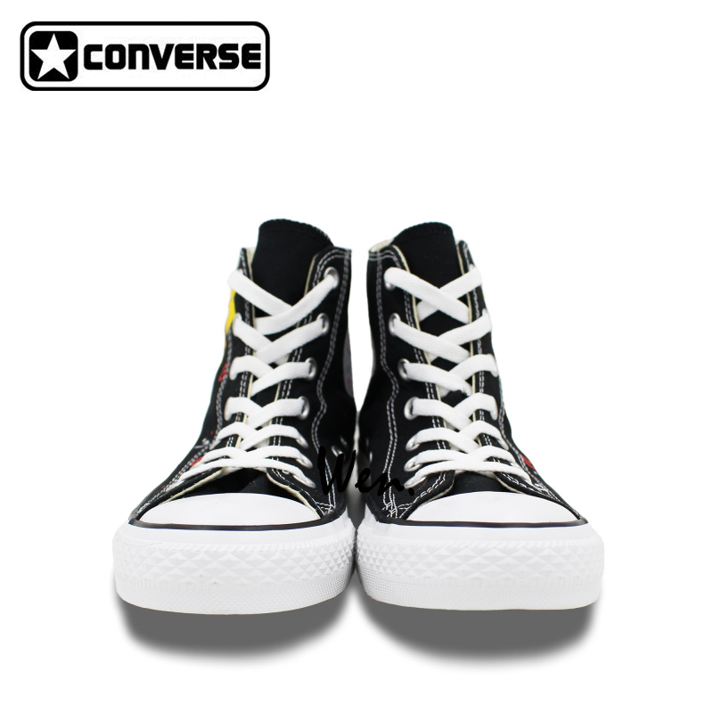 Pikachu Converse Chuck Taylor Black Women Men Shoes Anime Pokemon Design Hand Painted Shoes High Top Girls Boys Sneakers Gifts