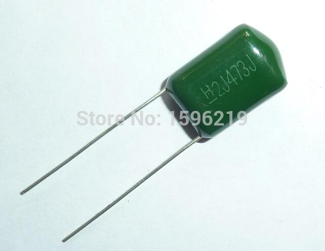 10pcs Mylar Film Capacitor 630V 2J473J 0.047uF 47nF 2J473 5% Polyester Film Capacitor