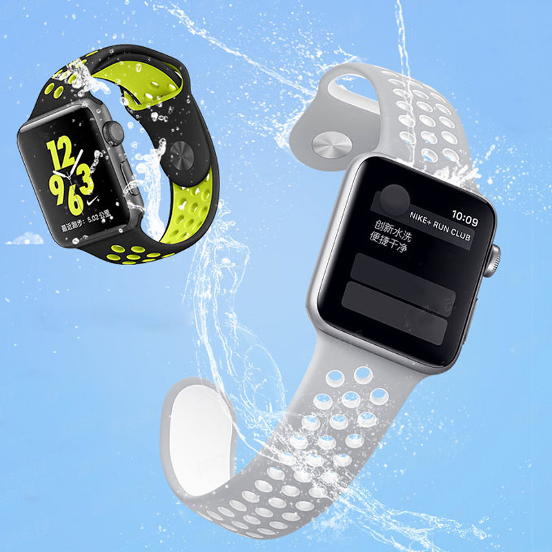 Strap for Apple Watch band 4 5 44mm 40mm iwatch band 42mm 38mm Sport Silicone correa Bracelet apple watch 4 3 2 1 Accessories in Watchbands from Watches