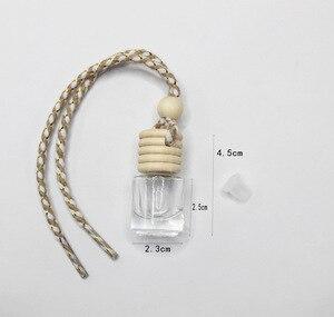 Image 3 - FM887 5ML Kleine Transparent Zylinder Gold Samt Seil Hohe Durchlässigkeit Glas Parfüm Anhänger Leere Flasche 100 PCS/LOT
