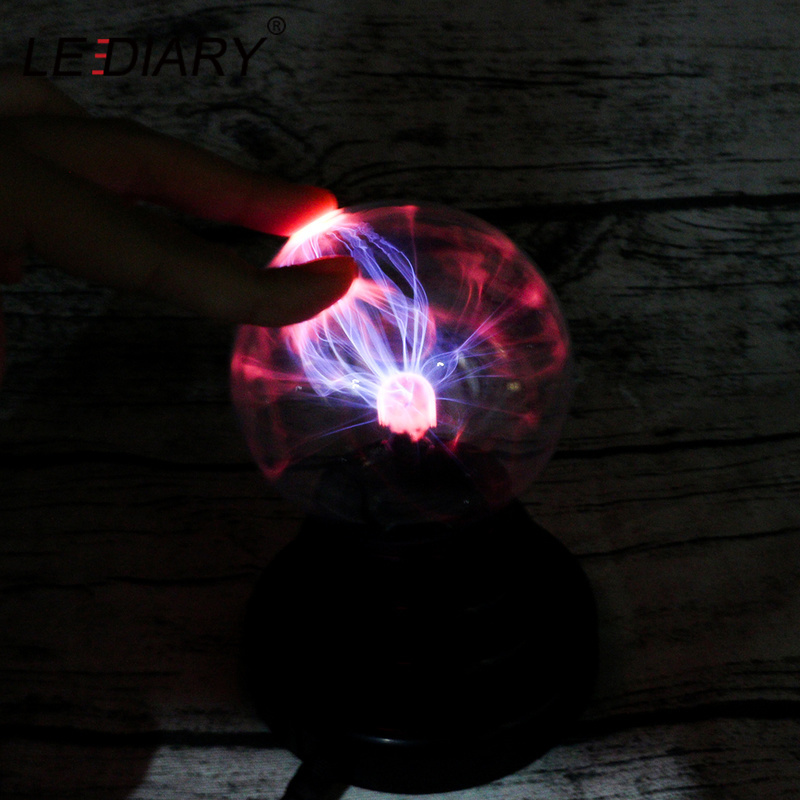 LEDIARY Electrostatic Control Night Light Negative Ion  Static Electricity Glass Ball USB Rechargeable Atmosphere Holiday Lamp