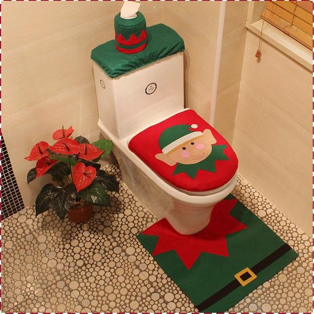 Set De Baño De Navidad: de Inodoro y Alfombra de Baño Set de decoración de navidad de coches