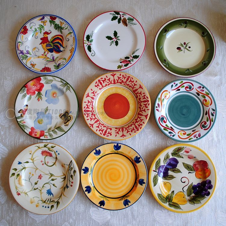Blemish 8inch Plate Western Dish Decoration Hanging : ceramic plates to paint - pezcame.com