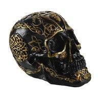 Halloween Photo Props Skull Head Resin Craft Statues For Decoration Skull Head Creative Skeleton Figurines Sculpture Resin skull