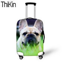 THIKIN French Bulldog Printing Luggage Covers for Suitcase Dustproof Trolley Case Cover Apply to 18 30 Inch Travel Accessories