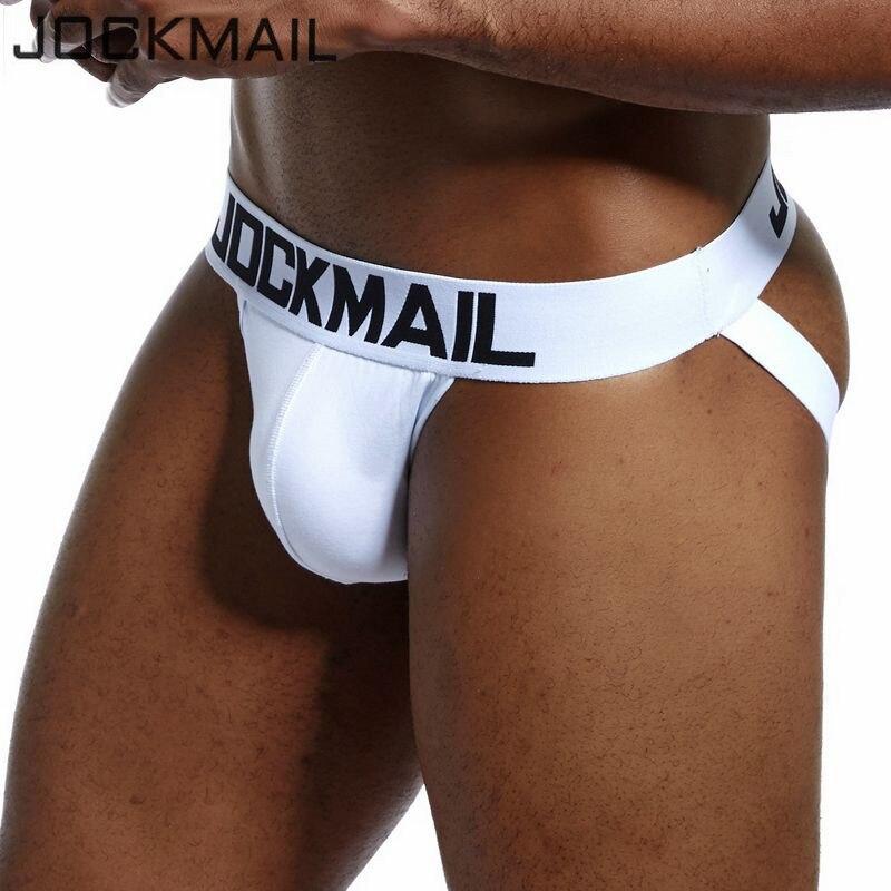 JOCKMAIL Brand Men Jockstraps Cotton Sexy Male Backless Buttocks Tanga Hombre G-string Thongs Men's Jock Straps Gay Underwear