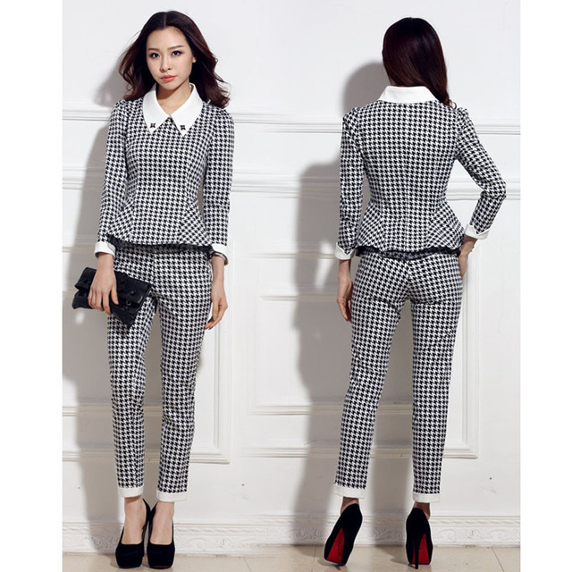 Aliexpress.com : Buy Women Business Suits with Pants New 2016 ...