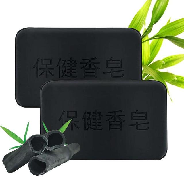 40g Black Bamboo Charcoal Soap Face Body Clear Anti Bacterial Tourmaline Remover Acne Soap Charcoal Savon Propolis Charcoal Soap 1