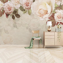 3D Custom Photo Wallpapers Vintage Oil Painting Wall Papers Leaves Flowers Floral Murals For Living Room Home Decor