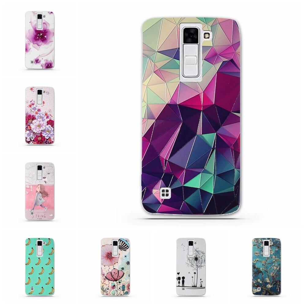 Shell For LG K8/Phoenix 2/Escape 3/K350N Back Case Cover Printing Mandala Flower Datura Floral Cell Phone Cases For LG K8/K350N
