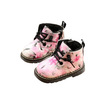 2019 Winter Baby Girls Martin Boots Infant Toddler Snow Boot Winter Cotton-padded Shoes Baby Girl Shoe