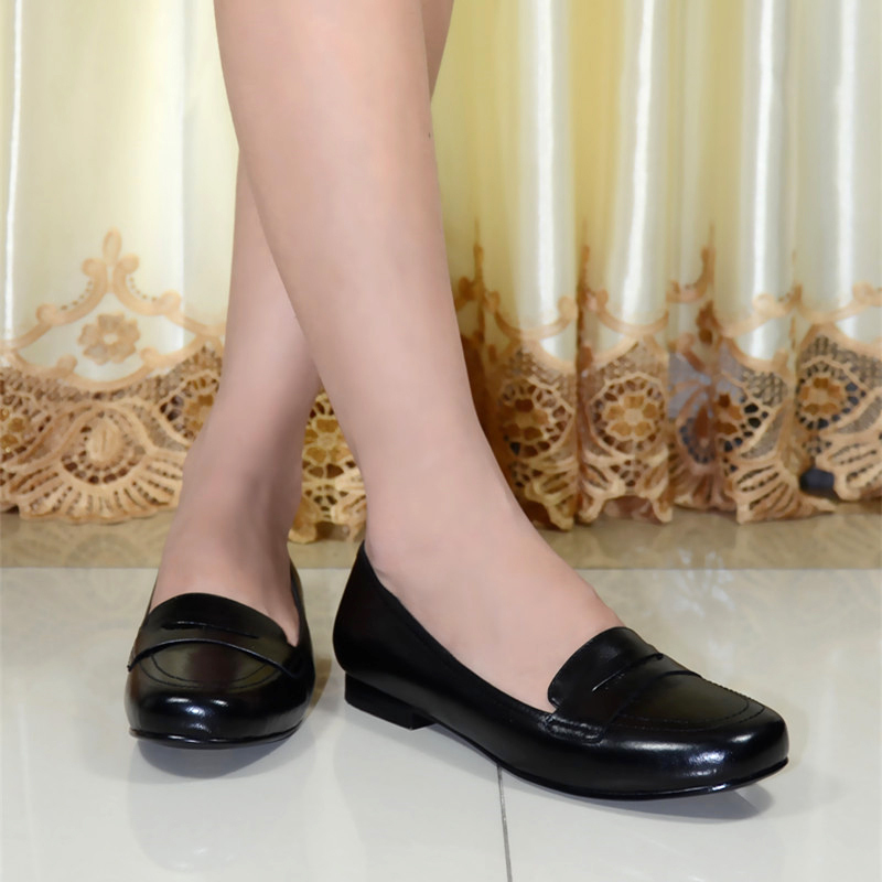 Italy Women S Flat Shoes Genuine Leather Round Toe For Office Las Pure 8089 G8 In Flats From On