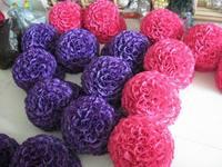 SPR 50cm=20 wedding silk kissing ball plastic inner artificial silk rose kissing flower ball 23 colors option EMS free shipping