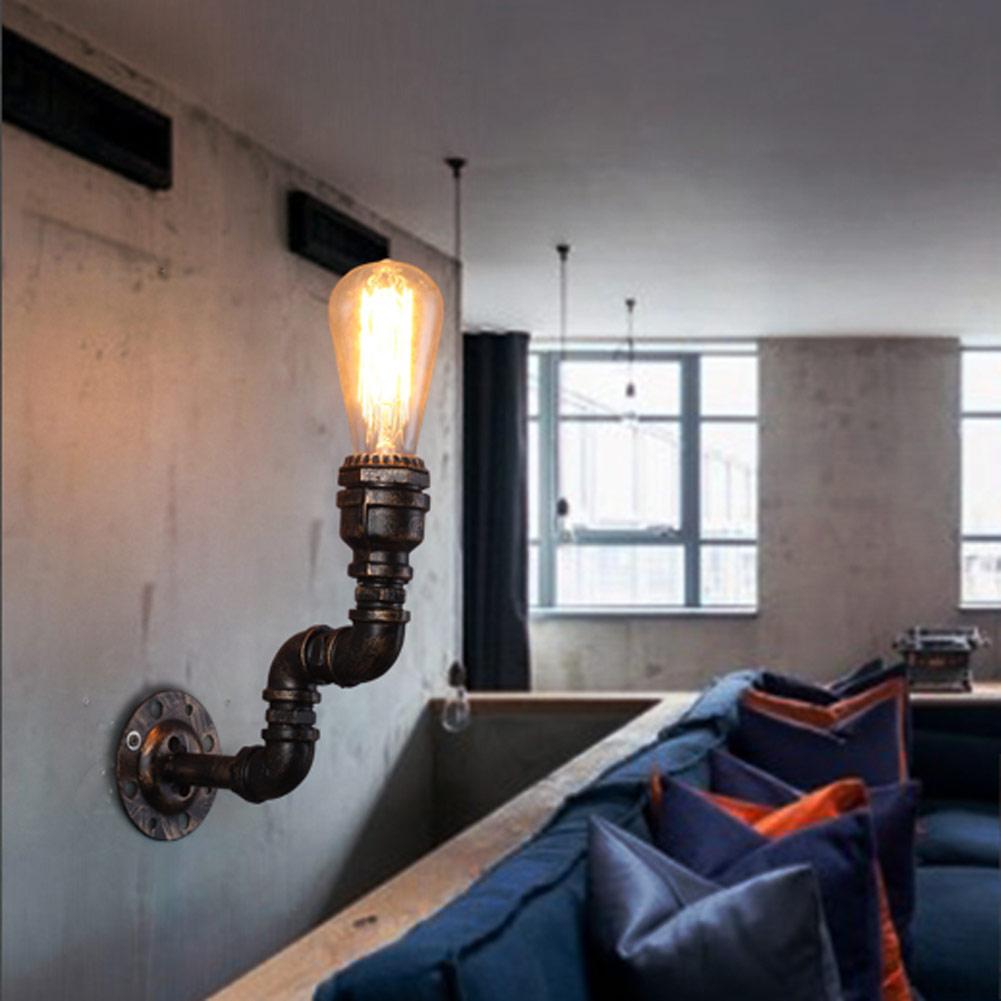 Loft Vintage Nostalgic Industrial Water Pipe Edison Wall Sconce Lamp Restaurant Hotel Bar Stair Home Decor Lighting