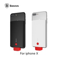 Baseus Clip Portable Charger For Iphone X Mobile Charger 4000mAh Phone Spare Battery For Iphone 8