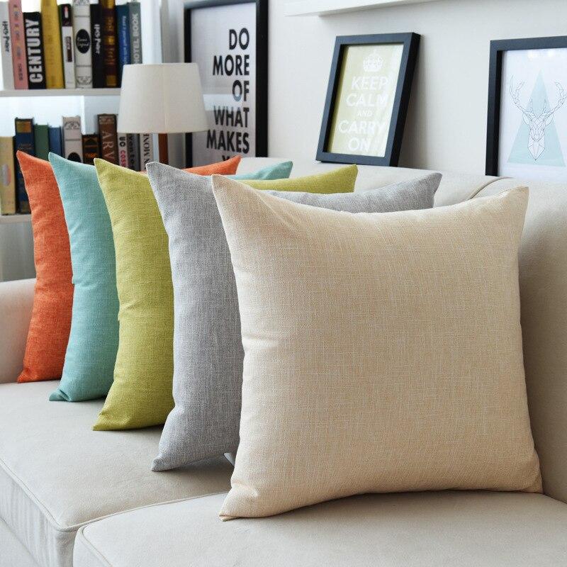 Blue Green Cushion Sofa Decorative Solid Color Pillow Almohadas Decorativas Sofa Pillows Funda Cojin Coussins Nordic Good