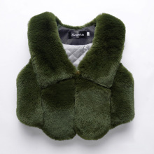 infant fur vest  kids warm girls