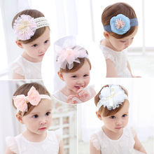 Baby Headband Flower Girls Pink Ribbon Hair Bands for Kids Headbands Turban Newborn Haarband Accessories