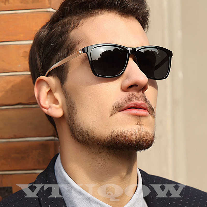 2020 Luxury Brand Polarized Men's Sunglasses Vintage Retro Hue Square Sunglasses Male Sun Glasses For Men gafas Okulary ray bann