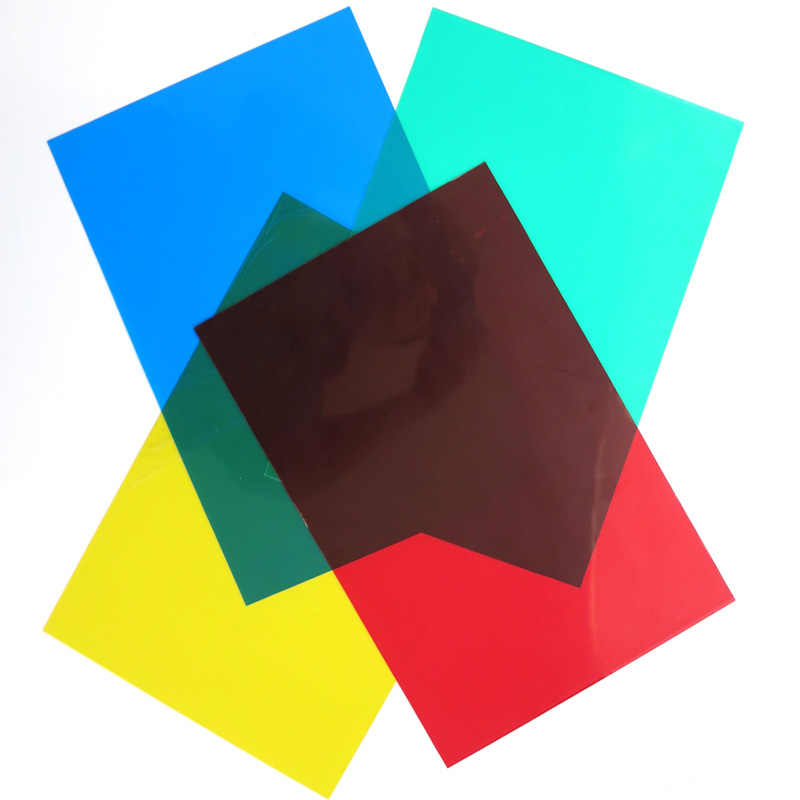 5pcs PVC transparent sheet ABS colorful sheet in size 200*300/300*600mm thickness 0.3mm