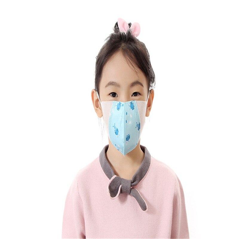Damen-accessoires Vornehm 10 Stücke Neue Ein-zeit Druck Schmetterling Staub-proof Dunst Masken Spleißen Cartoon Vier Nicht-woven Kinder Der Atmungs Masken Masken