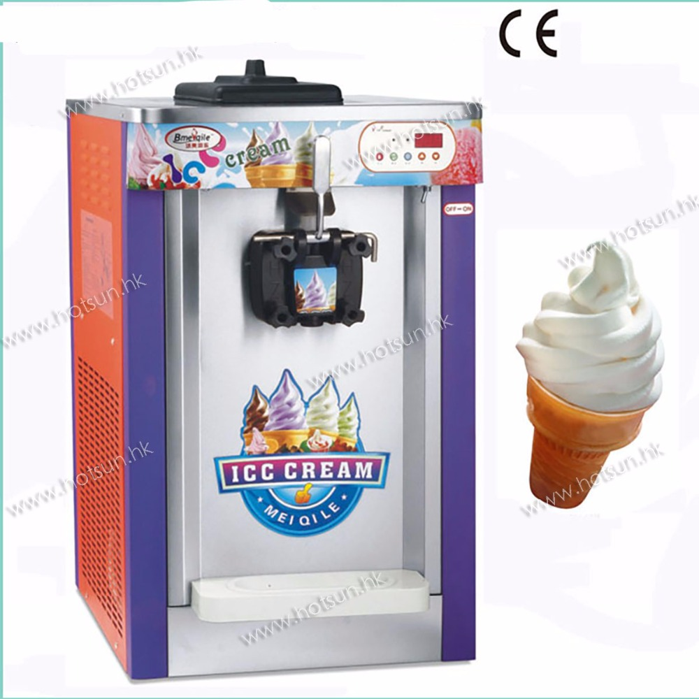 Countertop 220V Electric 16L Single Flavor Soft Ice Cream Frozen Yogurt Maker Machine