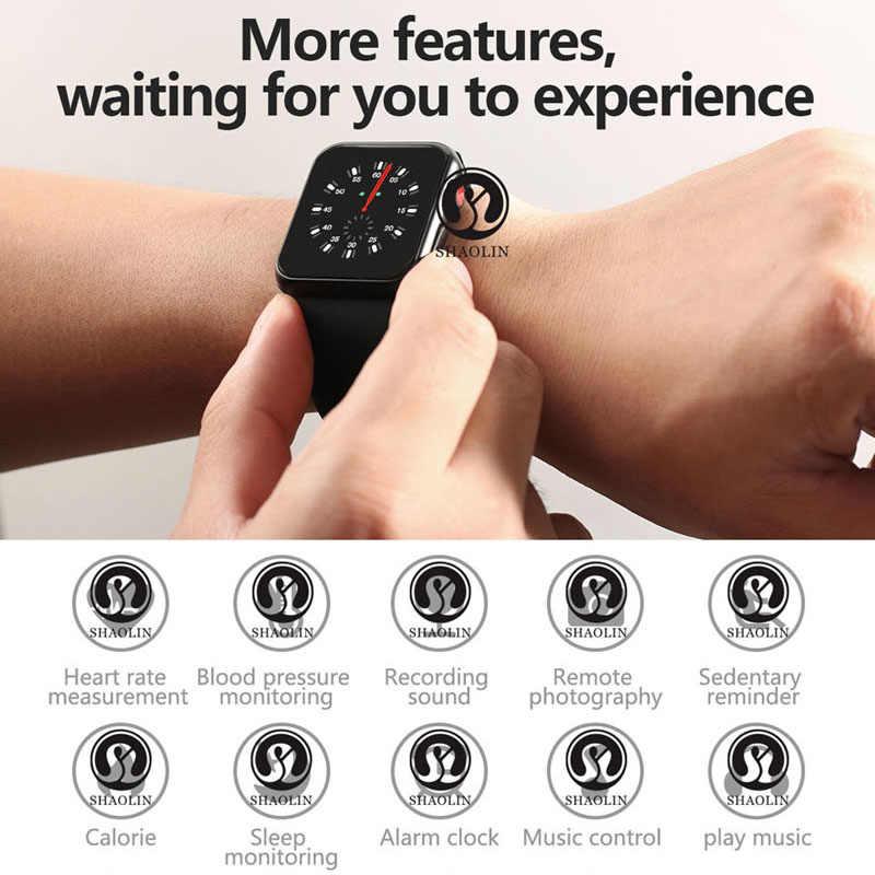 Bluetooth boîtier de smartwatch pour apple iphone xiaomi android téléphone smartwatch pk apple watch GT88 DZ09 (bouton rouge)