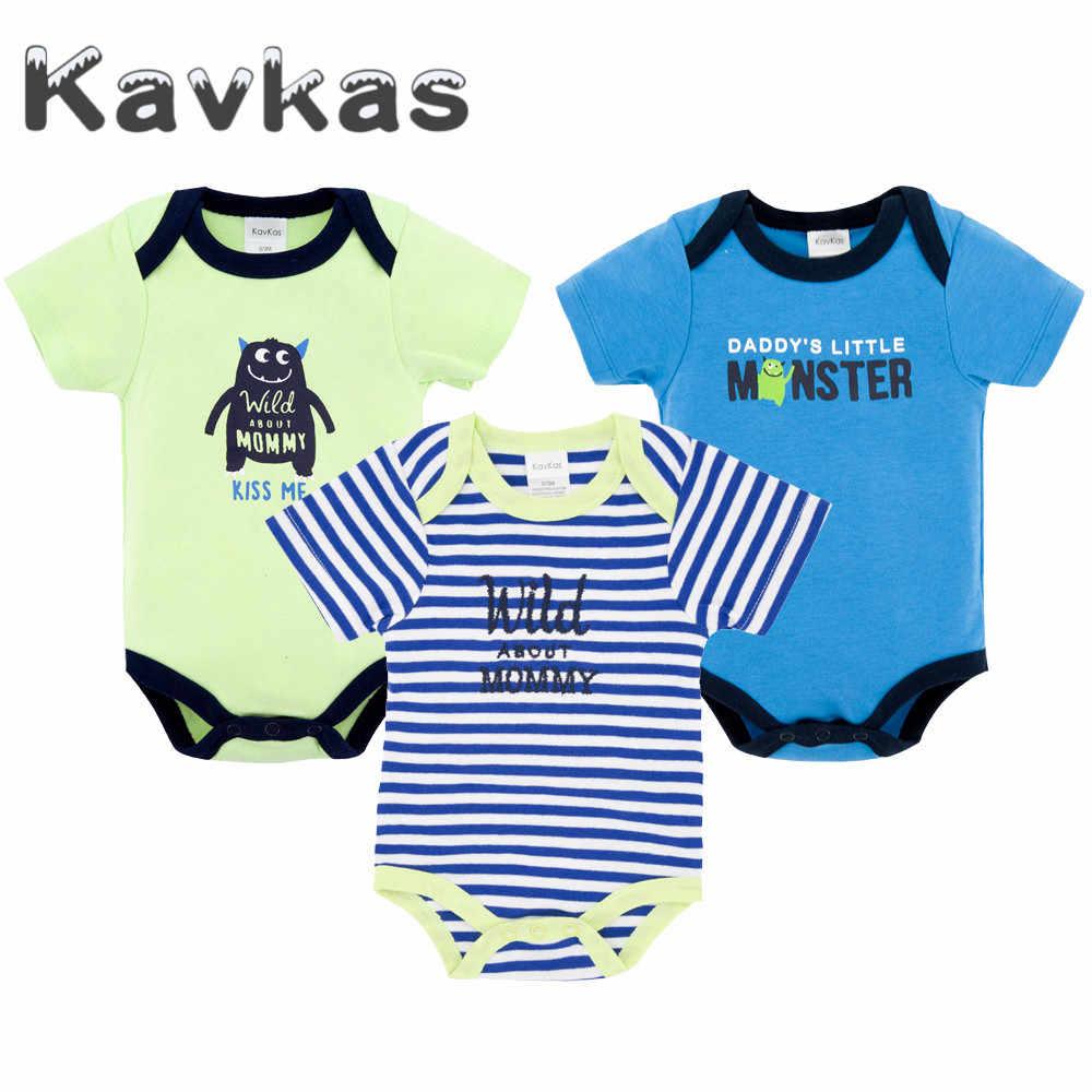 40e9bf06a9a9 Kavkas 2019 3 Pcs/lot Baby Boys Clothes Long Sleeve Summer Baby Rompers  Newborn roupa