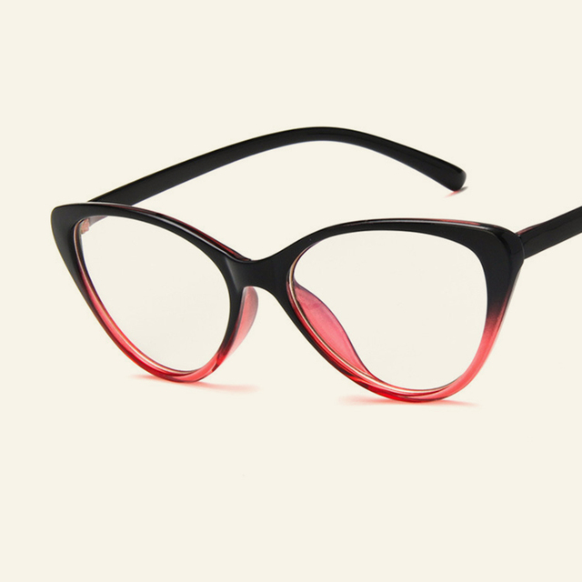 New Fashion Cat Eye Eyewear Frames Personality Casual Women Men ...