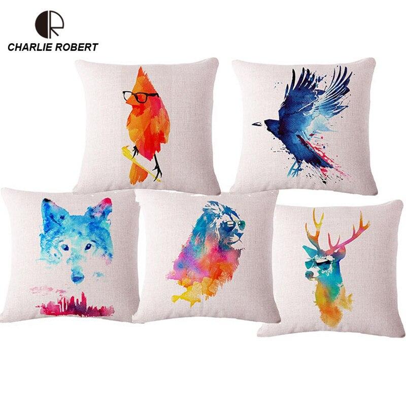 17 acuarela creativa decorativa Cojines silla sofá coche asiento ...