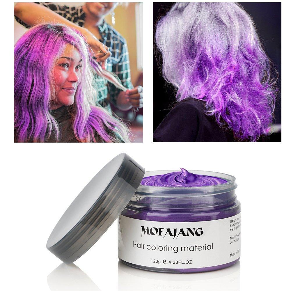 mofajang color hair wax purple