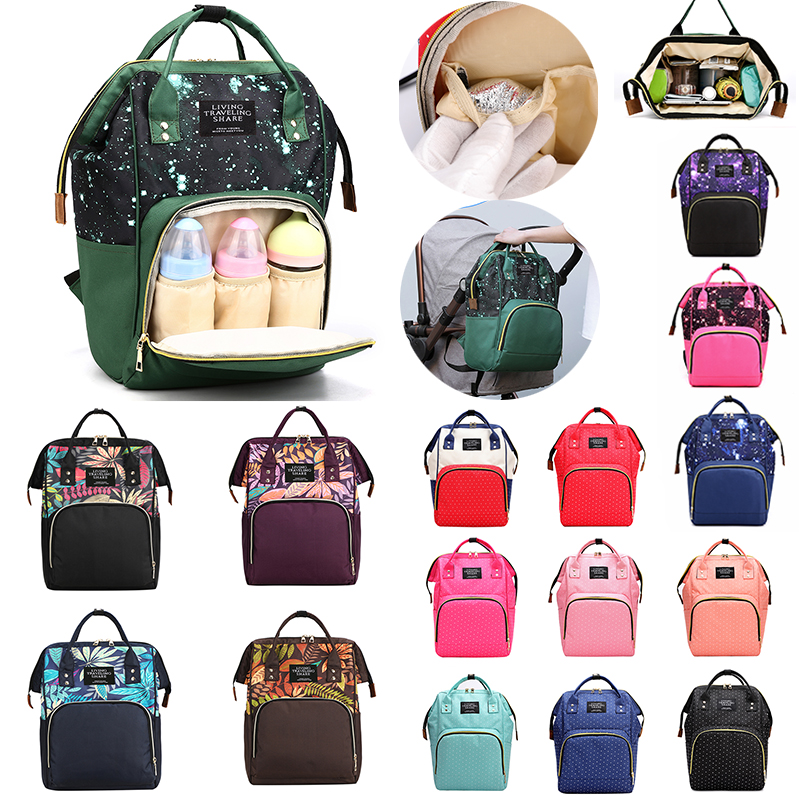 New Mummy Backpack Diaper Baby-Bag Travel Zipper Multifunctional Large-Capacity