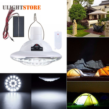 Solar Power Rechargeable 22 LED Light Bulb Super Bright Remote Control Yard Garden Outdoor Camping Tent Security Lamp Lantern
