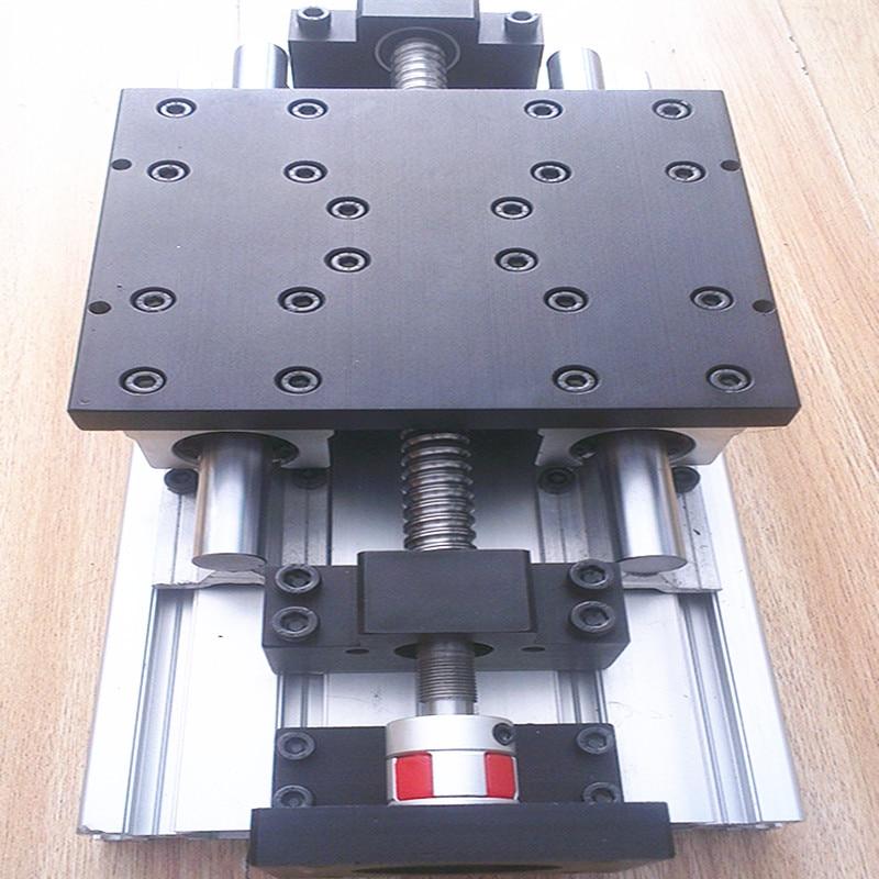 Slide / Table /CNC Module Of Linear Coordinate Travel Table SFU1605+BKBF12+SBR16-200/300/400/500/600mm LINEAR RAIL 15180 Profile