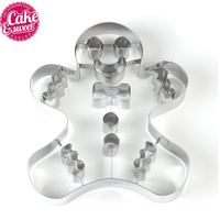 Cake Stencil Confectionery Packing Moulds 16pc Cookie Pastry Fondant Stainless Steel Bakeware Dessert Ring Molds For