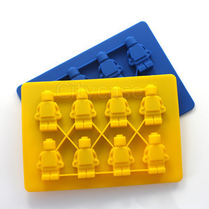 Wholesale 200pcs/lot Robot Minifigure Ice Mold Silicone Ice Cube Tray use for Kitchen Makes Home Free Shipping A120