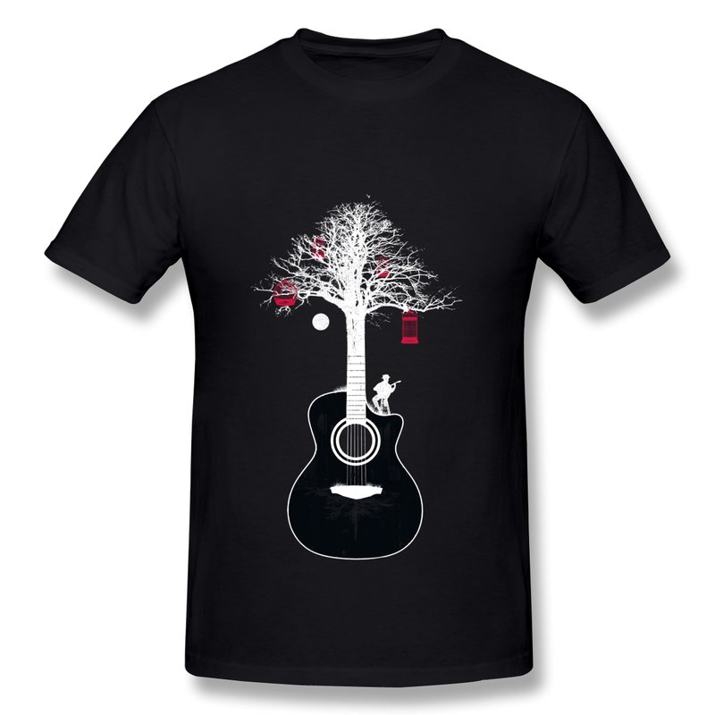 2014 New Fashion Short Sleeve Mens T Shirt Serenade Design Your Own Round Neck Guitar T Shirts