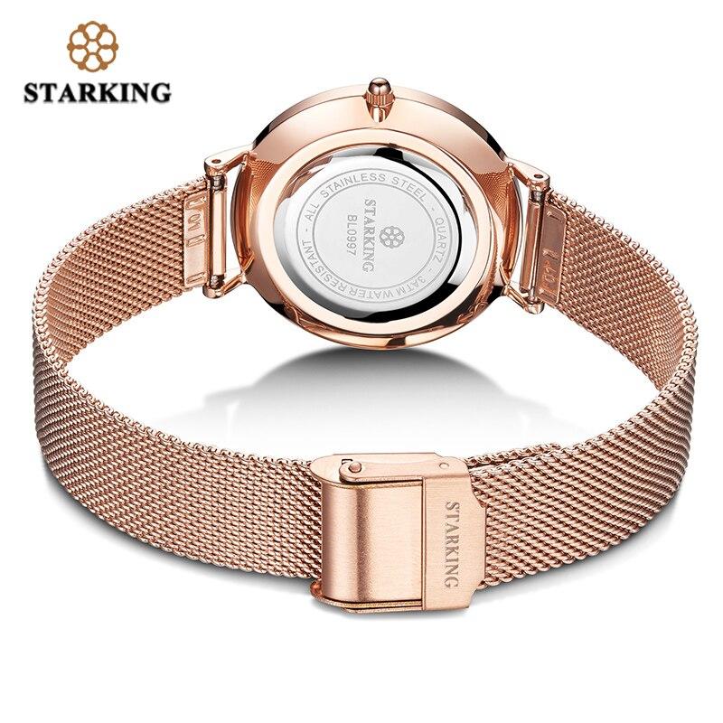 Image 5 - STARKING Top Brand Fashion Ladies Mesh Watches Female Quartz Watch Emerald Women Luxury Stainless Steel Watch Reloj Wristwatcheswristwatch brandwristwatch womenwristwatch quartz watch -